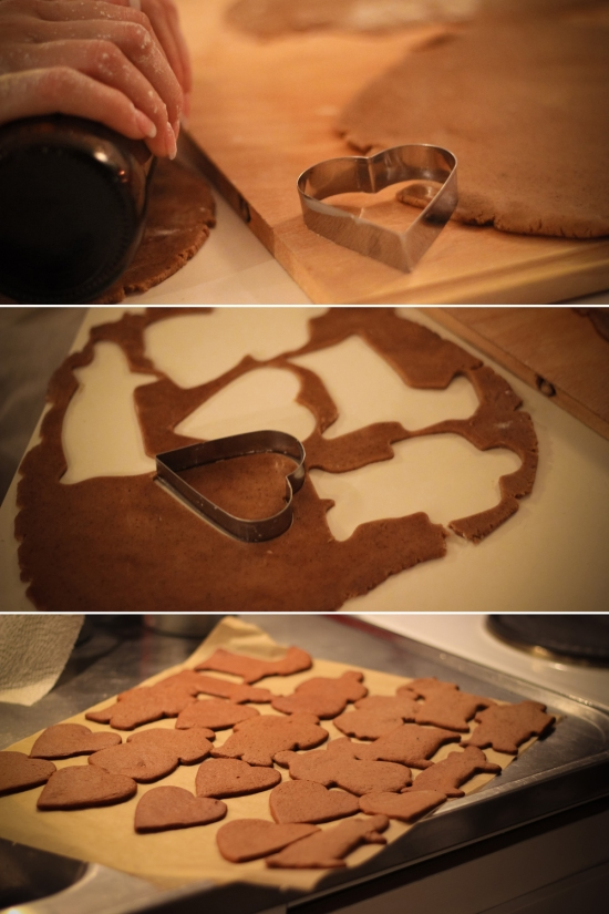 Gingerbread cookie making