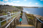 Rashida, my tour-guide for the Coogee-Bondi walk, takes a break at one of her favourite spots on this path.