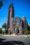 On the walk from our home to the beach, is this red-brick church that highlights the Coogee skyline