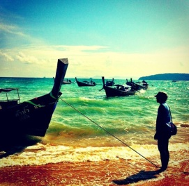 The Long Tail Boats: Krabi, Thailand
