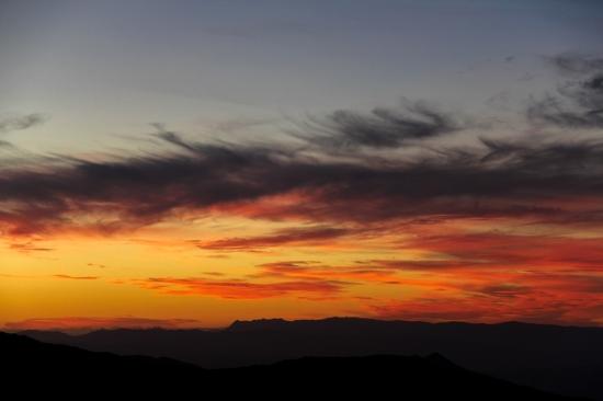 Sunset on Mount Wellington