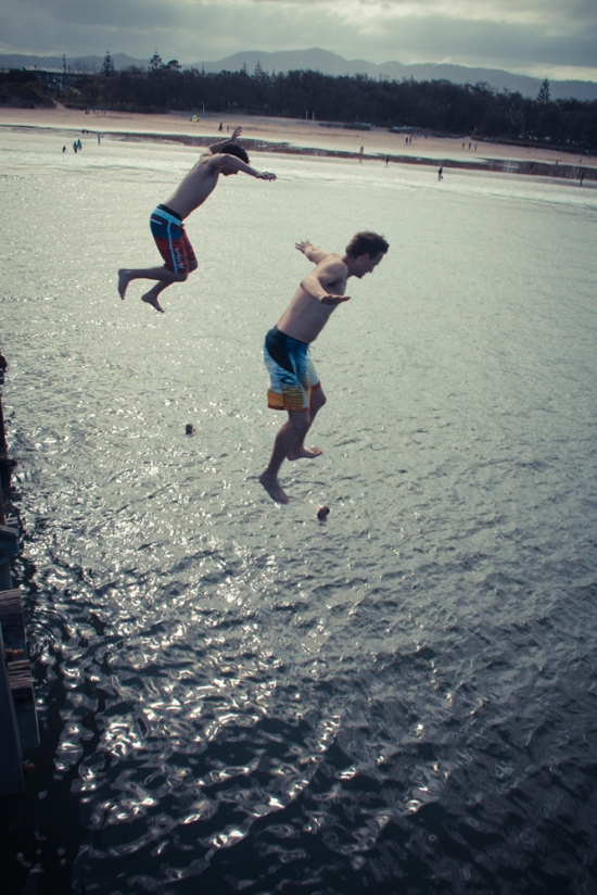 Jetty Jumping in Coffs Harbour
