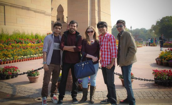 Catherine at India Gate