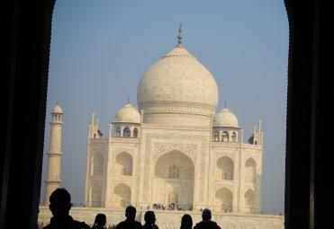 First glimpse of Taj Mahal