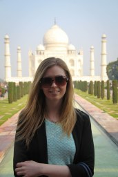 Cat at Taj Mahal