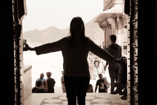 Catherine in Jaipur